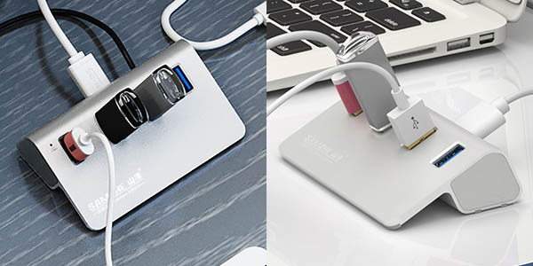HUB USB 3.0 metálico estilo Apple