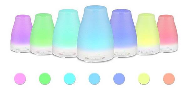 Humidificador con luz LED en varios colores