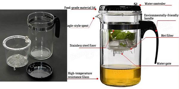 jarra para preparar infusiones facil y rapida de utilizar