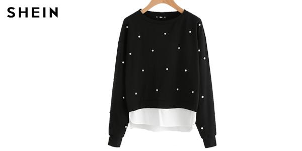 Comprar Suéter para mujer SHEIN en color negro