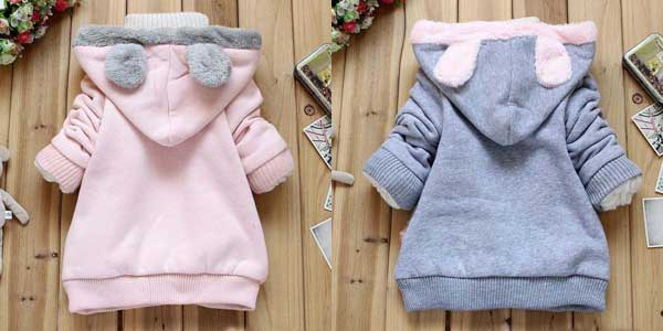 Sudadera Mother Nest con capucha calentita para niñas chollo en AliExpress