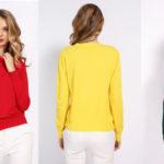 Jersey de punto con cuello redondo para mujer barato en AliExpress
