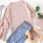 Comprar Suéter Shein rosa con perlas barato en AliExpress España