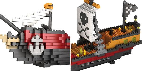 Juego Barco pirata para montar de 780 piezas chollo en AliExpress