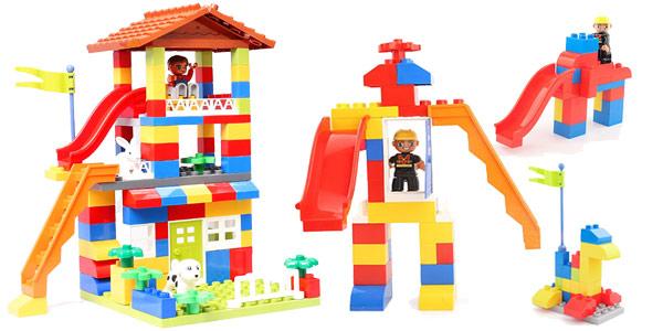 Juego de bloques de construcción casa estilo Duplo chollazo en AliExpress