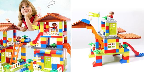 Juego de bloques de construcción casa estilo Duplo barato en AliExpress
