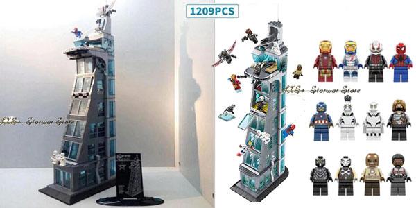 Torre de Los Vengadores estilo LEGO barata en AliExpress