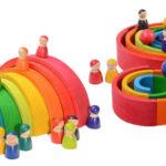 Set de Juguetes de construcción de madera para bebés barato en AliExpress