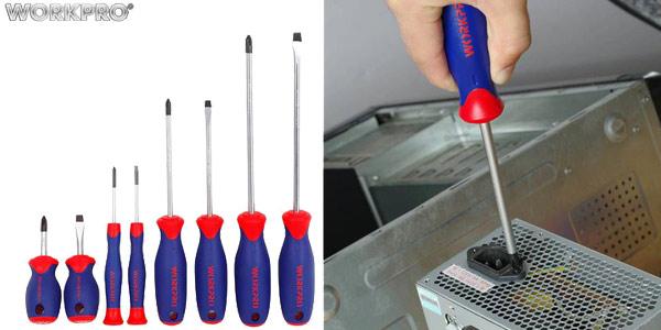 Kit de destornilladores magnéticos Workpro 8 en 1 baratos en AliExpress