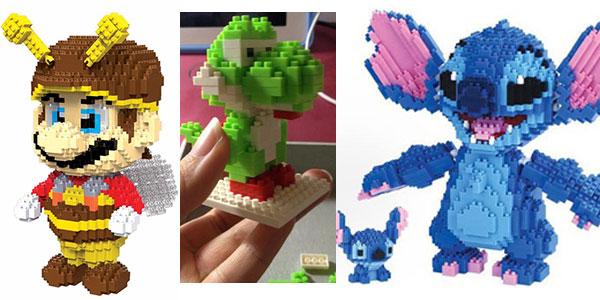 Personajes Disney y Nintendo en figuras de bloques rebajadas