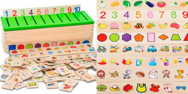 Juguete educativo Montessori de madera para buscar parejas