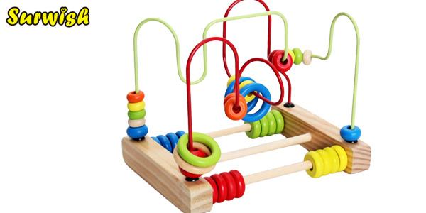 Ábaco de madera Montessori de Surwish para niñ@s barato en Aliexpress