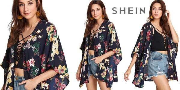 Kimono corto SheIn de mangas dolman chollo en AliExpress