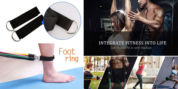 Kit accesorios para hacer fitness chollo en AliExpress