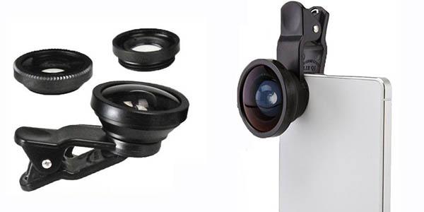Kit de lentes 3 en 1 universal para smartphone