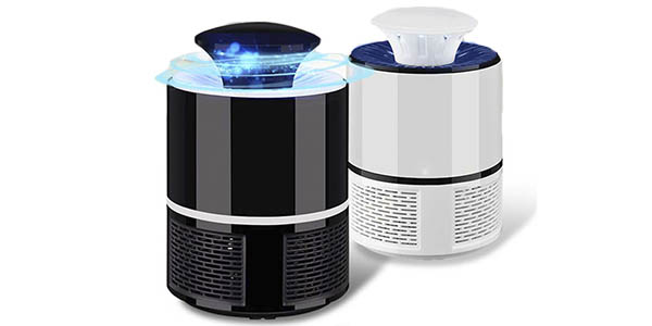 Lámpara electrónica atrapa-mosquitos con conexión por USB