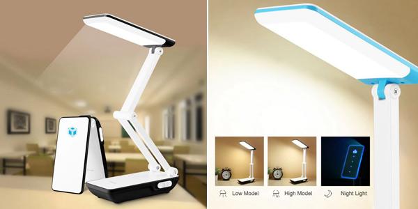 Lámpara LED plegable con batería 800 mAh integrada chollo en AliExpress