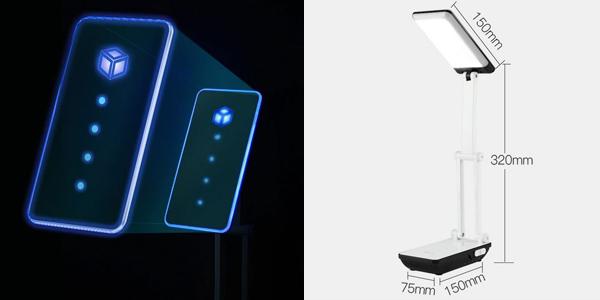 Lámpara LED plegable con batería 800 mAh integrada chollazo en AliExpress