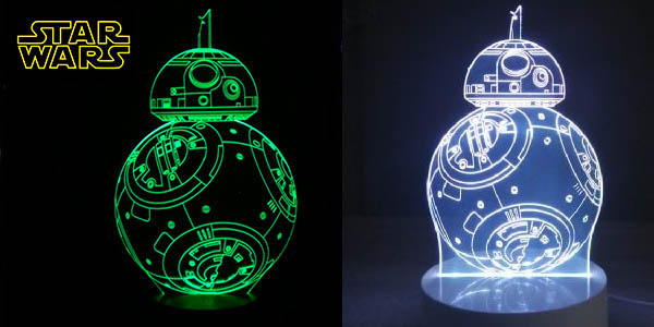 Lámpara LED 3D BB-8 de Star Wars barata