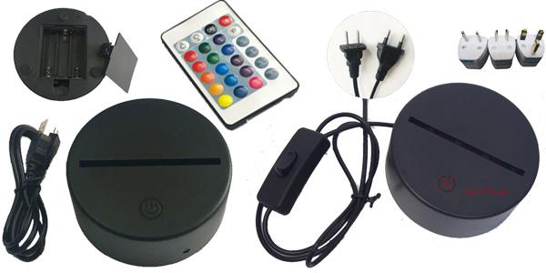 Lámpara LED 3D de Mickey Mouse chollo en AliExpress