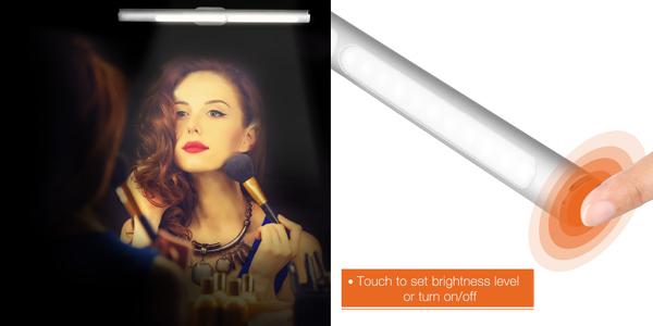 Lámpara LED para espejo del baño barata en Rosegal