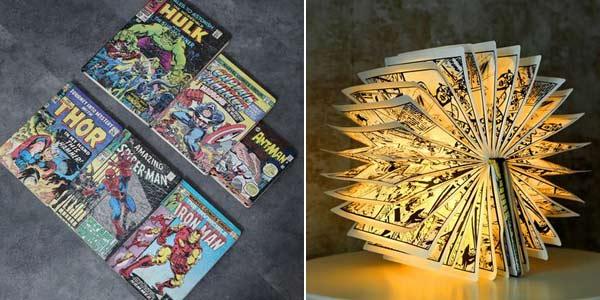 Lámpara LED decorativa Marvel barata en AliExpress