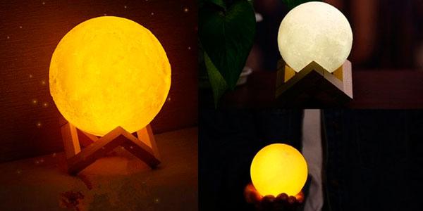 Lámpara LED con forma de Luna rebajada