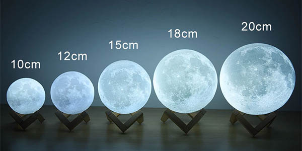 Lámpara LED decorativa Luna barata