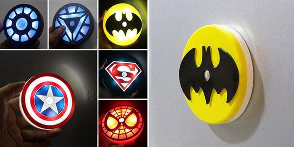 Luces LED de Superhéroes con sensor de movimiento baratas en AliExpress