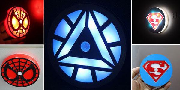 Luces LED de Superhéroes con sensor de movimiento chollo en AliExpress