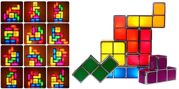 Lámpara LED tipo Tetris personalizable barata