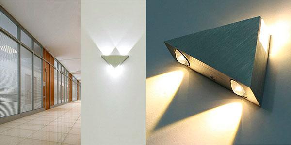 Lámpara LED triangular