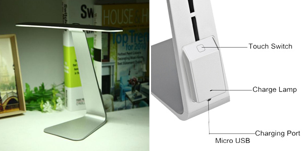 Lámpara de escritorio LED con batería chollazo en Banggood