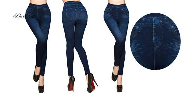 Leggings Doves Show estilo jeans para mujer chollo en AliExpress