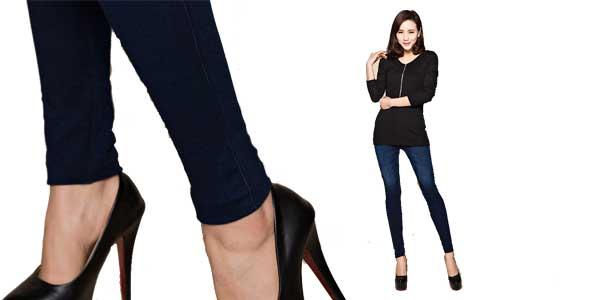 Leggings Doves Show estilo jeans para mujer chollazo en AliExpress