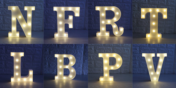 Lámparas de letras LED en AliExpress