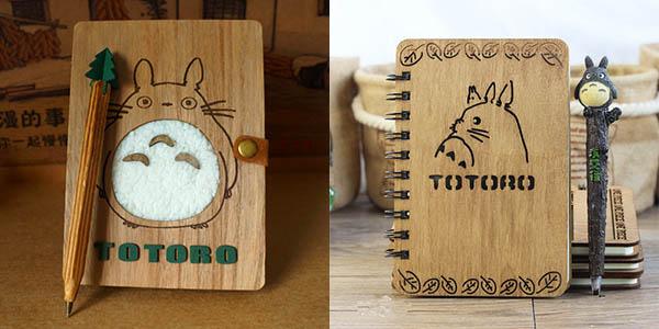 Libretas Totoro de madera