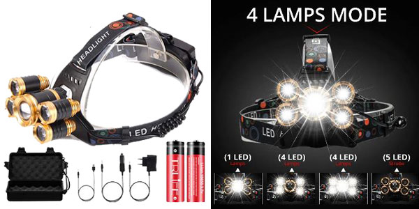 Linterna LED Frontal barata en AliExpress