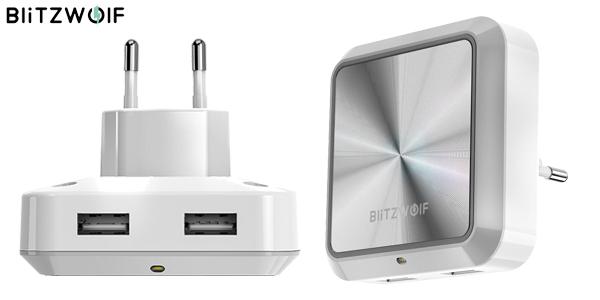 Luz LED nocturna BlitzWolf BW-LT14 con cargador USB 2 puertos barata en Banggood