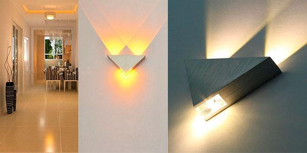 Luz de pared LED con triple V