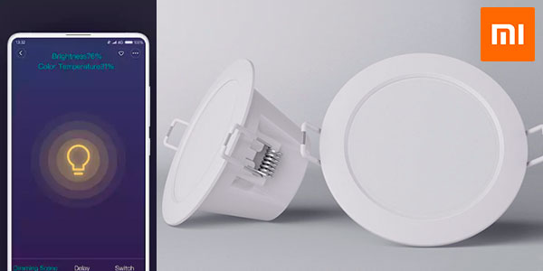 Luz LED Downlight Xiaomi Philips Zhirui con Wi-Fi y color ajustable barata