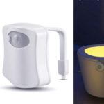 Luz LED con sensor para inodoro barata en AliExpress