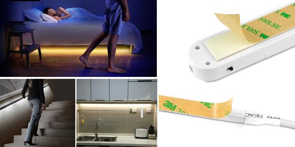 Tira de luz LED Malitai con sensor de movimiento para armario chollo en AliExpress