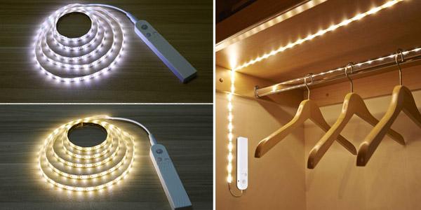 Tira de luz LED Malitai con sensor de movimiento para armario barata en AliExpress
