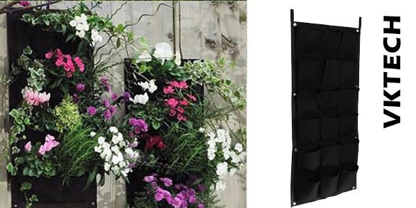 Macetero de cultivo vertical Vktech con 18 huecos para exterior o interior chollo en AliExpress