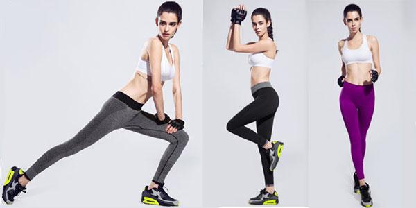 Mallas deportivas Binand para mujer cintura alta