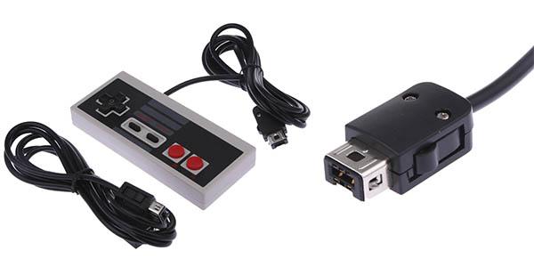 Controlador Mini NES + cable alargador