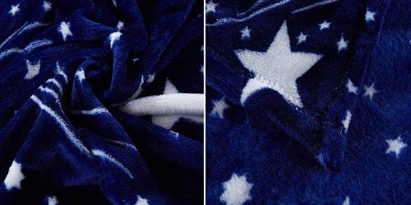 Manta de franela suave con estampado de cielo estrellado en varios tamaños chollo en AliExpress
