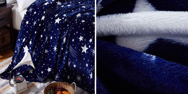 Manta de franela suave con estampado de cielo estrellado en varios tamaños chollazo en AliExpress