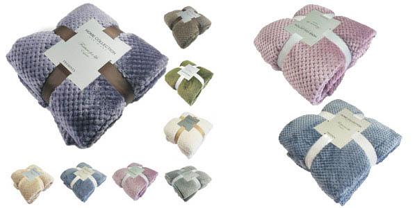 Selección mantas franela de diferentes tamaños